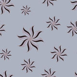Stylized star anise seamless pattern. Gray background. Royalty Free Stock Photos
