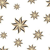 Stylized star anise seamless pattern. Light background. Abstract backdrop. Royalty Free Stock Images