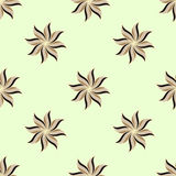 Stylized star anise seamless pattern. Light background. Abstract Royalty Free Stock Image