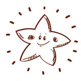 Stylized star Royalty Free Stock Images