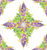 Stylized star seamless floral pattern Royalty Free Stock Photography