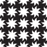 Stylized stars seamless pattern. White elements on black background. Stock Images