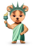 Stylized Statue of Liberty, Concept of Independence Day Stock Photography
