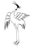 Stylized stork Stock Image