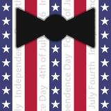 Stylized suit with red, white and blue stripes Stock Photos