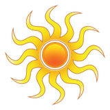 Stylized Sun. A stylized sun design. Can be used for an icon or logo Stock Illustration