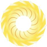 Stylized sun Royaltyfri Fotografi