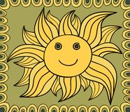 Stylized sun drawing. Vector background Royalty Free Stock Images