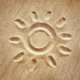 Stylized sun Royalty Free Stock Images