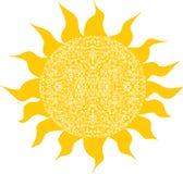 Stylized sun, symbol design Royalty Free Stock Photography