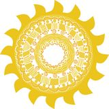 Stylized sun, vector Stock Photo