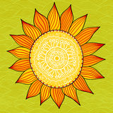Stylized sun, vector Royalty Free Stock Images