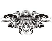 Stylized symmetric vignette with snakes Royalty Free Stock Photos