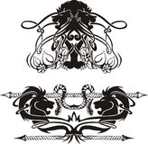 Stylized symmetric vignettes with lions. Vector illustration EPS8 Royalty Free Stock Image