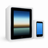 Stylized tablet pc and mobile phone Stock Image