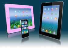 Stylized tablet pc and mobile phone Stock Images