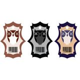 Stylized tags with owls Royalty Free Stock Photos