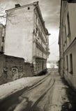 stylized tappningvyborg för foto gata Royaltyfria Bilder