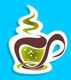 Stylized tea cup Stock Images