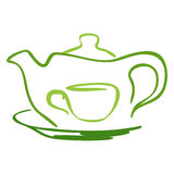 Stylized tea icon Stock Images
