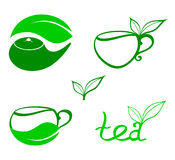 Stylized tea icons Stock Photography