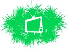 Stylized Television in spot Royalty Free Stock Images