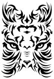 Stylized Tiger face symbol - tattoo - vector. Stylized Tiger face symbol - tattoo illustration isolated on white, vector format available Royalty Free Stock Image