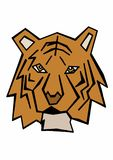 Stylized tiger. Image of a stylized tiger Royalty Free Stock Photos