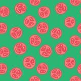 Stylized tomato pattern. Stylized red tomato pattern with green background royalty free illustration