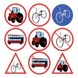 Stylized traffic signs. Vector illustration Royalty Free Stock Images