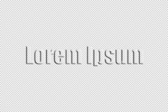Lorem Ipsum Text With Bevel and Emboss Applied Against Checkerboard Background. Stylized transparent Lorem Ipsum words against checkerboard background which is stock illustration