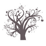Stylized tree. With leaves for design,  illustration Royalty Free Stock Images