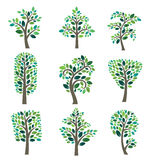 Stylized  tree collection Royalty Free Stock Images