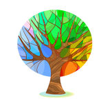 Stylized tree - four seasons Royalty Free Stock Images