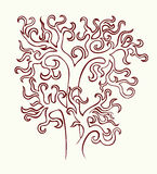 The stylized tree without leaves. Stock Photos