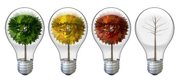 Stylized Tree Light Bulbs Stock Photography