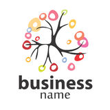 Tree  logo business and the environment. Stylized tree logo and business environment Royalty Free Stock Images