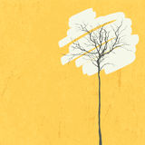 Stylized tree. Retro background Royalty Free Stock Image