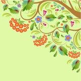 Stylized tree rowanberry Royalty Free Stock Photography