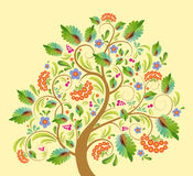 Stylized tree rowanberry Stock Photography