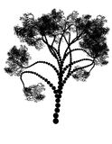 Stylized Tree Silhouette Royalty Free Stock Photos