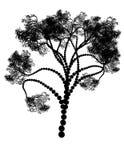 Stylized Tree Silhouette Royalty Free Stock Photos