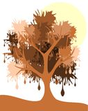 Artistic Stylized tree with spots. Image representing a stylized tree with spots instead leaves stock illustration