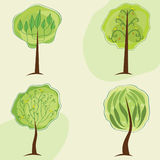 Stylized trees Royalty Free Stock Photography
