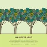 Stylized trees Arkivfoto