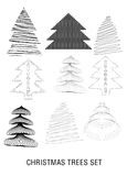 Stylized trees Stock Photo