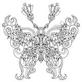 Stylized tropical lace butterfly of paradise. Stock Photo
