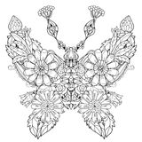 Stylized tropical lace butterfly of paradise. Royalty Free Stock Photo