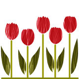 Stylized tulips Royalty Free Stock Photo