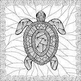 Stylized turtle style zentangle Royalty Free Stock Images
